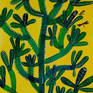 Euphorbia su giallo