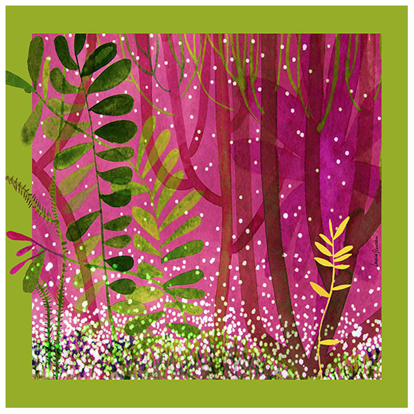 Foulard Foresta rosa | Lucia Scuderi