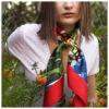 Foulard Il giardino della Upupa | Lucia Scuderi
